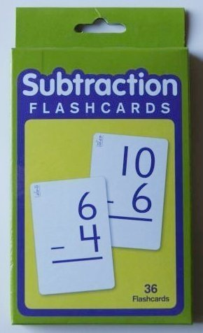 Subtraction Flashcards Set of 36 - 1