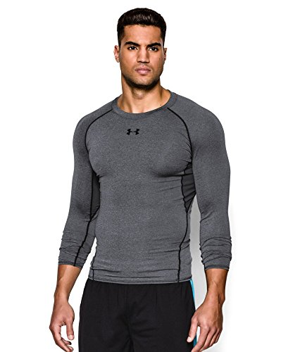 Under Armour Men's HeatGear Armour Long Sleeve Compression Shirt, Carbon Heather (090), Large