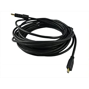 25ft Micro HDMI Male to HDMI Male 1080P Video Cable Cord Wire for Motorola Atrix 2 Droid Razr Maxx Acer A100 A700 W500 Huawei IDEOS S7 Lenovo Ideapad K1 Asus TF201 MEMO ME171 Motorola Photon 4G xyboard Droid Razr MB860 Atrix 4G LG G2x Xoom Blackberry playbook HTC EVO 4G Droid X HTC Radar 4G Huawei MediaPad