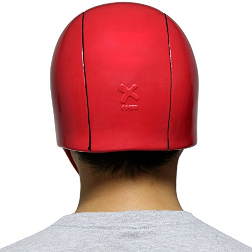 XCOSER Adult Red Hood Helmet Mask Costume Props for Halloween Cosplay