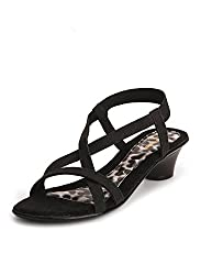 Lamere Womens Fashion Synthetic Black Heels (LA-530) 38