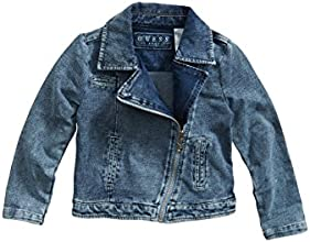 GUESS Kids Little Girl Knit Denim Moto Jacket 2-6x