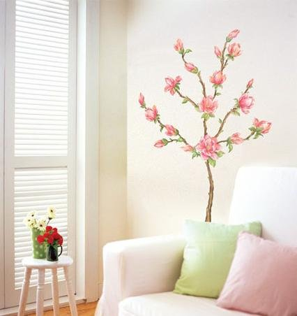 MAGNOLIA FLOWER DECOR MURAL WALL PAPER STICKER WST-16