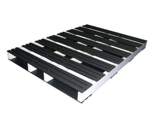 Jifram 05000136 60-Inch by 42-Inch 2-Way Entry Recycled Plastic Pallet with 2500 Pound Weight Capacity