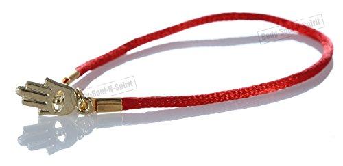 Gold Color Hamsa Red String Bracelet Lucky Charm Pendantt Kabbalah Jewelry