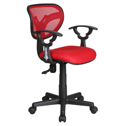 Red Adjustable Gas Lift Mesh Back Swivel Computer Desk Office Furniture Chair