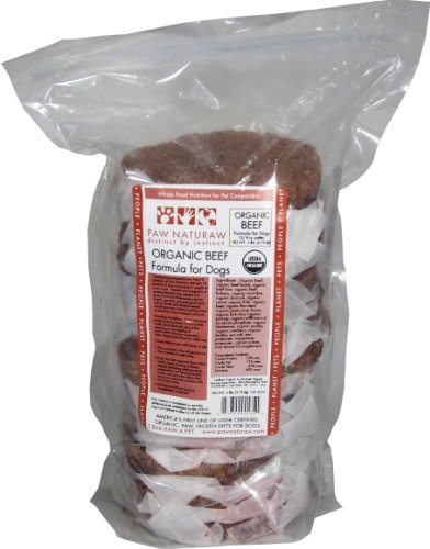 Paw Naturaw Organic Beef Formula for Dogs, Patties, 80-Ounce Bag