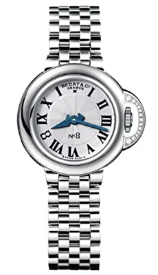 Bedat & Co. Number 8 Silver Dial Stainless Steel Quartz Ladies Watch 827.021.600