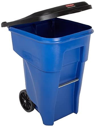 Rubbermaid Commercial Brute MDPE Rollout Trash Can, Rectangular