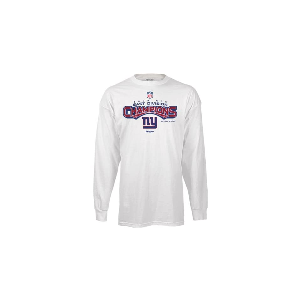 29e6ce71b New York Giants 2008 NFC East Division Champs Locker Room Long Sleeve T  Shirt