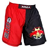 MMA Short in Polyester 2 Tone Fabric with Embroidered Logo Size 4XL