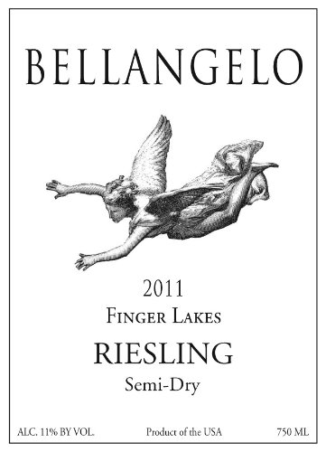 2011 Bellangelo Finger Lakes Semi Dry Riesling 750 Ml