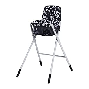 ikea spoling hochstuhl mit sicherheitsgurt schwarz wei. Black Bedroom Furniture Sets. Home Design Ideas