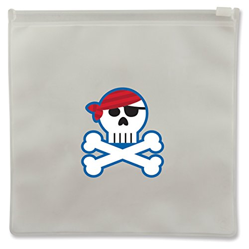 Stephen Joseph Pirate Reusable Snack Bags, Clear - 1