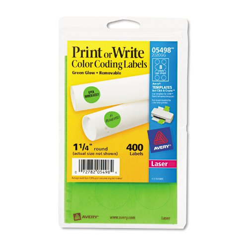 Avery  Removable Print or Write Color Coding Labels, 0.75 Inches, Round, Pack of 1008 (5472)