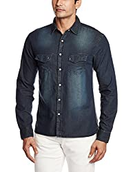 Breakbounce Men's Dress Shirt (8907066072977_Coolidge_X-Large_blue)