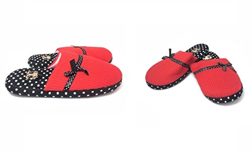 Betty Boop Ultra-Soft Women's Plush Pinup Scuffs Cozy Non-Skid Slippers - Great for Gifts (Medium, Polka Dot) (Betty Boop House Shoes compare prices)