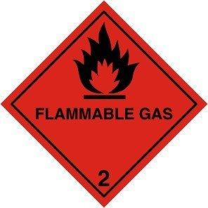 Smarts-Art Magnetic Sign Flammable Gas Warning Sign 100Mm X 100Mm