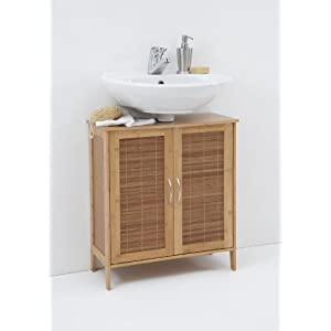 sink cabinet bathroom balla under sink bathroom cabinet unit in solid bamboo. Black Bedroom Furniture Sets. Home Design Ideas