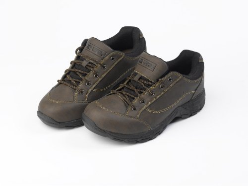Mens Rugged Outback Lace Up Shoes Boys Walking Hiking Outdoor Shoes Sizes US 8-13 UK 7-12 EU 40.5-47 (Brown)