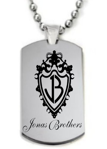 Jonas Brothers' Logo Necklace DogTag or KeyChain -Free Chain&Giftbox