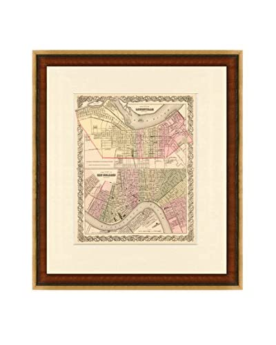 Map Antiquities Antique Map Of Louisville & New Orleans, 1855, Multi