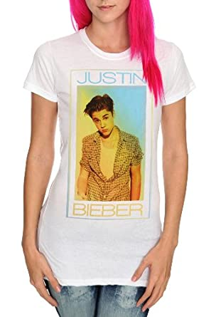 Justin Bieber Clothes  Girls on Justin Bieber Plaid Girls T Shirt  Amazon Com  Clothing