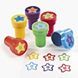 Plastic Pre Inked Star Stamps