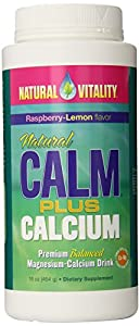 Natural Vitality Natural Calm plus Magnesium-Calcium Drink, Raspberry Lemon, 16 Ounce