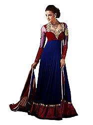 VIHA Blue Women's Velvet Salwar Suit