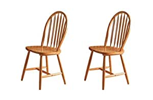 SET OF FOUR 4 KENTUCKY ANTIQUE PINE DINING CHAIRS Kitchen Amp