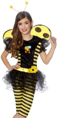 Franco Kids Bumblebee + Wings Outfit Girls Halloween Costume