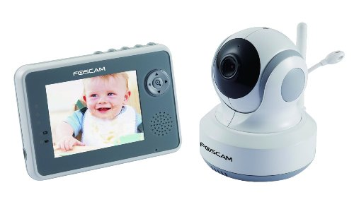 Foscam FBM3501 Wireless Digital Video Baby Monitor - Pan/Tilt, Nightvision and Two-Way Audio with 3.5