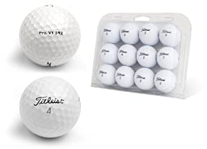 Second Chance Titleist Pro V1 Lake Golf Balls 12 Pack - 21 X 16 X 5 Cm Clam