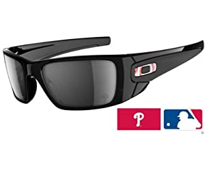 Oakley Fuel Cell OO9096-48 Square Phillies Sunglasses,Polished Black Frame/Black Iridium Lens,One Size