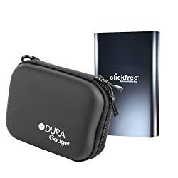 Solid HDD Case In Fashionable Blue For Clickfree C6 Easy Imaging C2 Deluxe C2 Rugged C2N Black