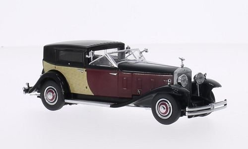 rolls-royce-phantom-ii-black-dark-red-1933-model-car-ready-made-dongguan-143-by-royce-rolls