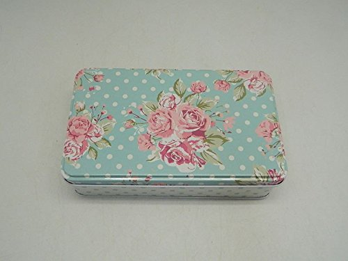Vintage Style Flowers Oblong House Kitchen Lunch Food Storage Tin Tea Box Pencil Cookie My-3133