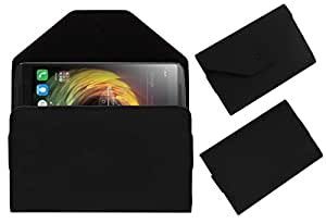 Acm Premium Pouch Case For Lenovo K4 Note Flip Flap Cover Holder Black
