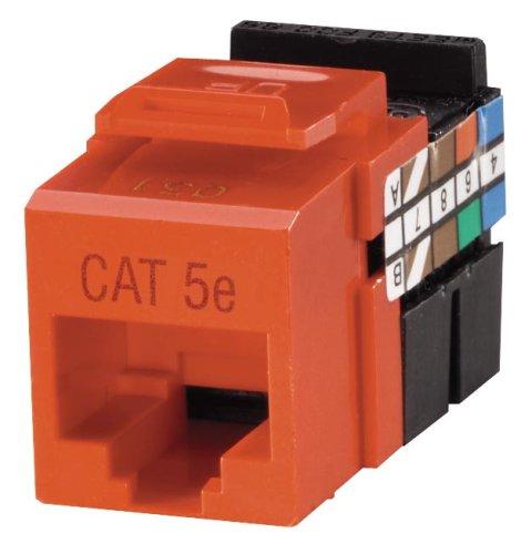 Leviton R09-5G108-0OR Cat 5e 8-Wire QuickPort Adaptor Jack, Orange