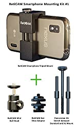 RetiCAM ' Smartphone Mounting Kit #1 - Smartphone Tripod Mount, Mini Ball Head and Hot Shoe Adapter