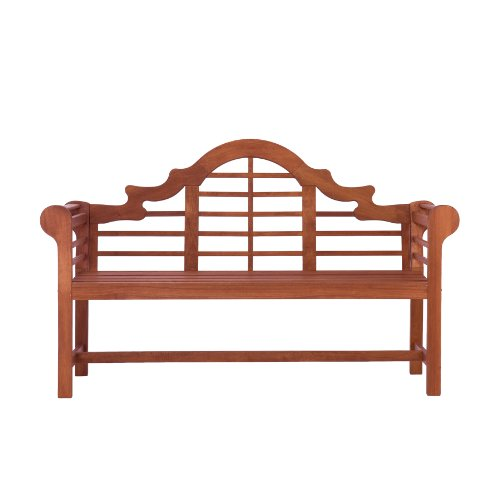SEI Lutyens Bench, Dark Brown (Discontinued by Manufacturer)