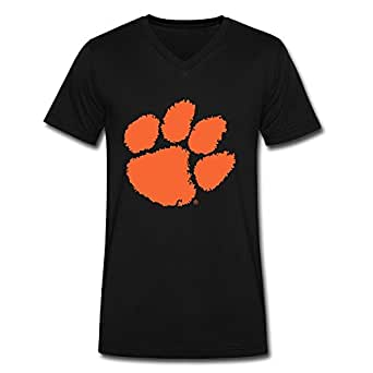 Ywt men 39 s clemson university tiger paw logo t for Clemson university t shirts