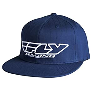 Fly Racing Corp. Pin Stripe Men's Flexfit Casual Wear Hat/Cap - Navy / Small/Medium
