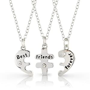 best friends forever three part necklace
