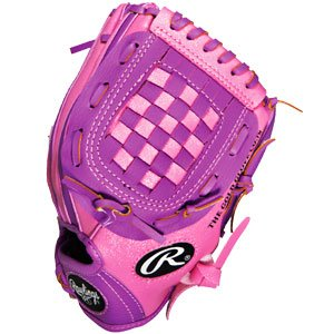 Rawlings Players 9.5 inch Pink Youth Baseball or Softball Glove - PL195PB