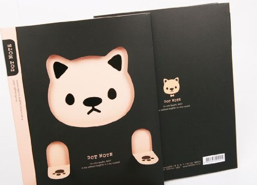 A5 Tearable Notebook - Pink Cat - 1