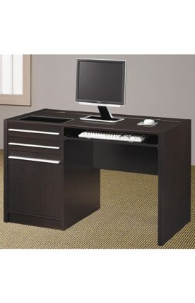 Buy Low Price Comfortable Cappuccino Computer Desk by Coaster Furniture (B004T37AHA)