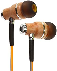 Symphonized NRG 3.0 Premium Wood In-ear Noise-isolating Headphones Earbuds Earphones with Mic & Volume Control (Luminescent Yellow & Hazy Gray)