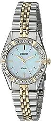 Seiko Women's SUP094 Solar-Power Two-Tone Bracelet Watch